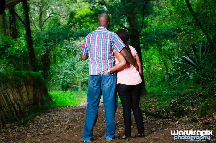 classic engagement photoshoot in the forest love story -1