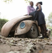 Kenyan destination wedding engagement session in a car yard in the wild by waruisapix-23