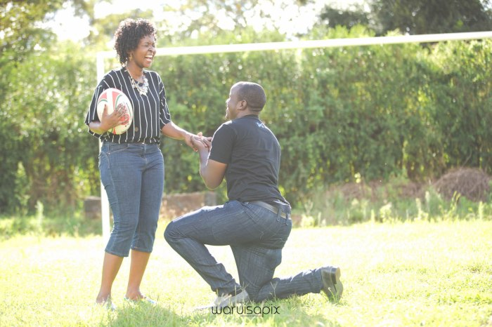 Mercie and Maurice Engagement shoot by waruisapix ring on a ball-11