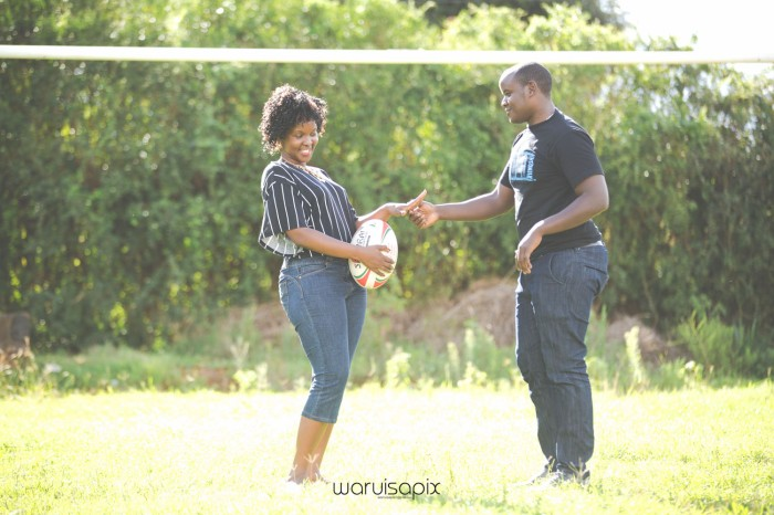 Mercie and Maurice Engagement shoot by waruisapix ring on a ball-12