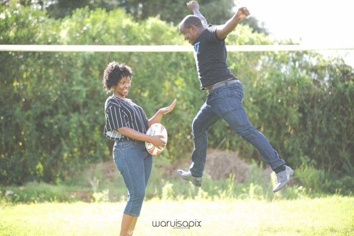 Mercie and Maurice Engagement shoot by waruisapix ring on a ball-13