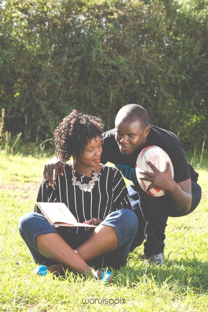 Mercie and Maurice Engagement shoot by waruisapix ring on a ball-3