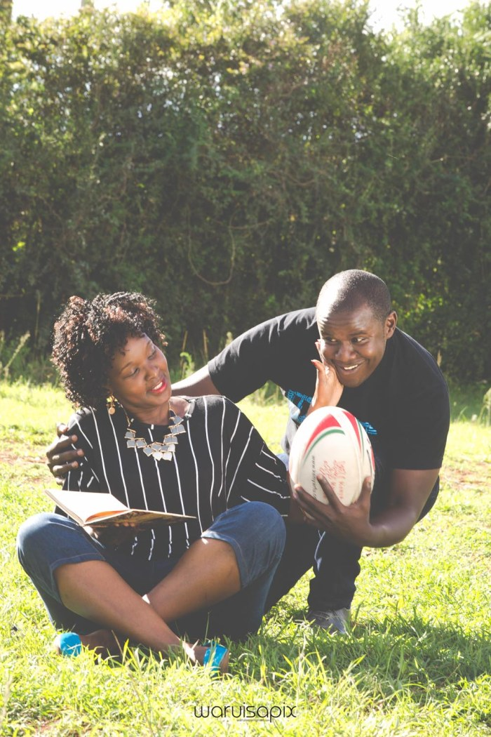 Mercie and Maurice Engagement shoot by waruisapix ring on a ball-4