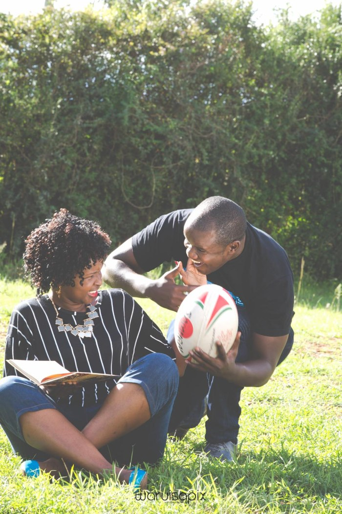 Mercie and Maurice Engagement shoot by waruisapix ring on a ball-5