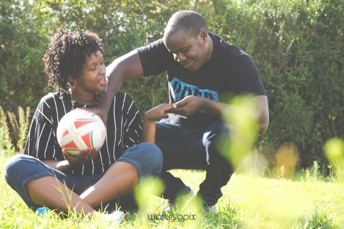 Mercie and Maurice Engagement shoot by waruisapix ring on a ball-8