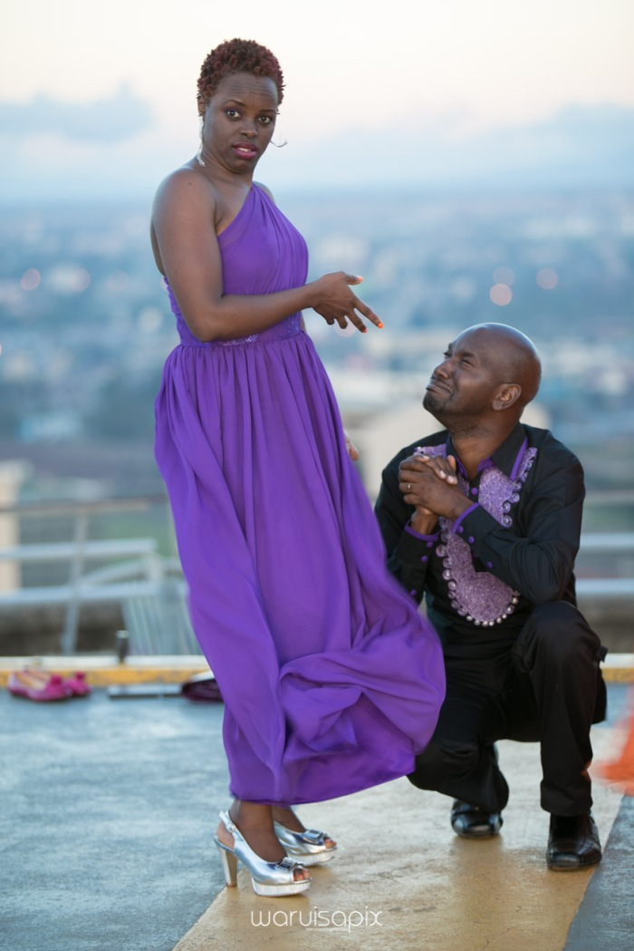 wedding photoshoot on a Helipad on top of nairobi's tallest building KICC with the skyline in view and sunset by waruisapix top kenyan wedding photographer-194