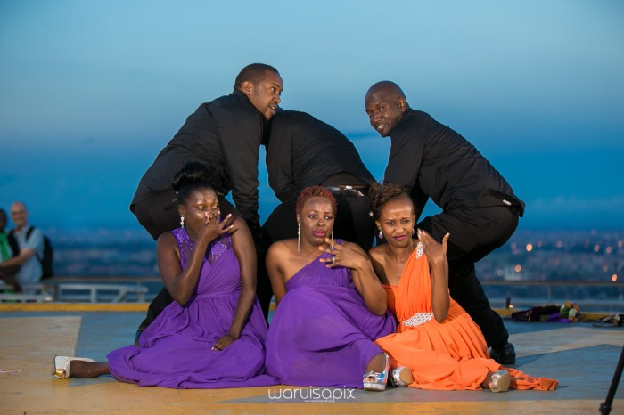 wedding photoshoot on a Helipad on top of nairobi's tallest building KICC with the skyline in view and sunset by waruisapix top kenyan wedding photographer-212