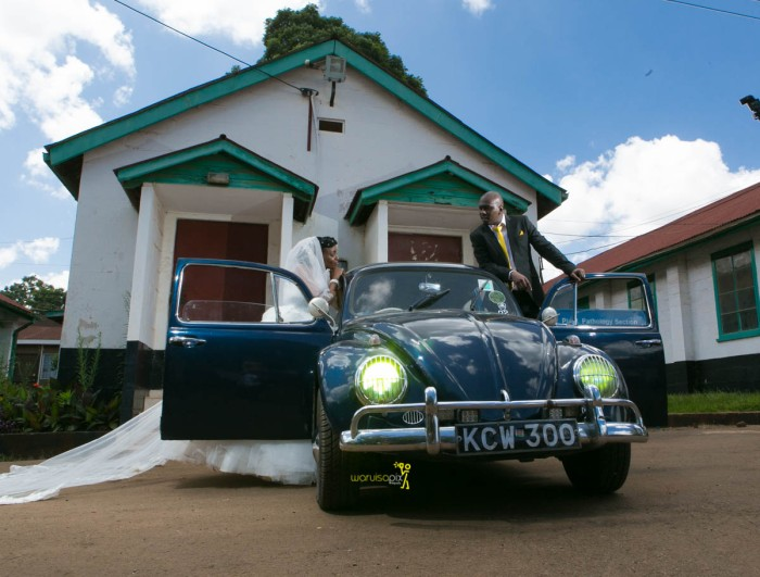 The great kenyan wedding random photoshhot with vintage car on nairobi streets by waruisapix ciiku weds Davie-106
