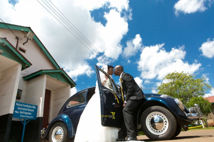The great kenyan wedding random photoshhot with vintage car on nairobi streets by waruisapix ciiku weds Davie-107