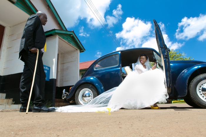 The great kenyan wedding random photoshhot with vintage car on nairobi streets by waruisapix ciiku weds Davie-108