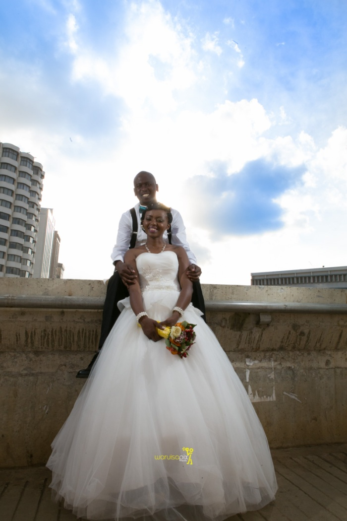 The great kenyan wedding random photoshhot with vintage car on nairobi streets by waruisapix ciiku weds Davie-153