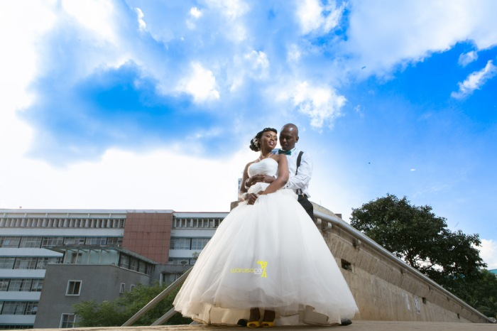 The great kenyan wedding random photoshhot with vintage car on nairobi streets by waruisapix ciiku weds Davie-155