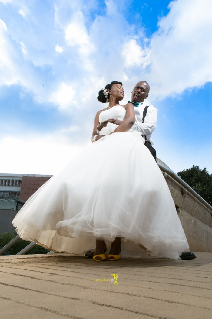The great kenyan wedding random photoshhot with vintage car on nairobi streets by waruisapix ciiku weds Davie-156