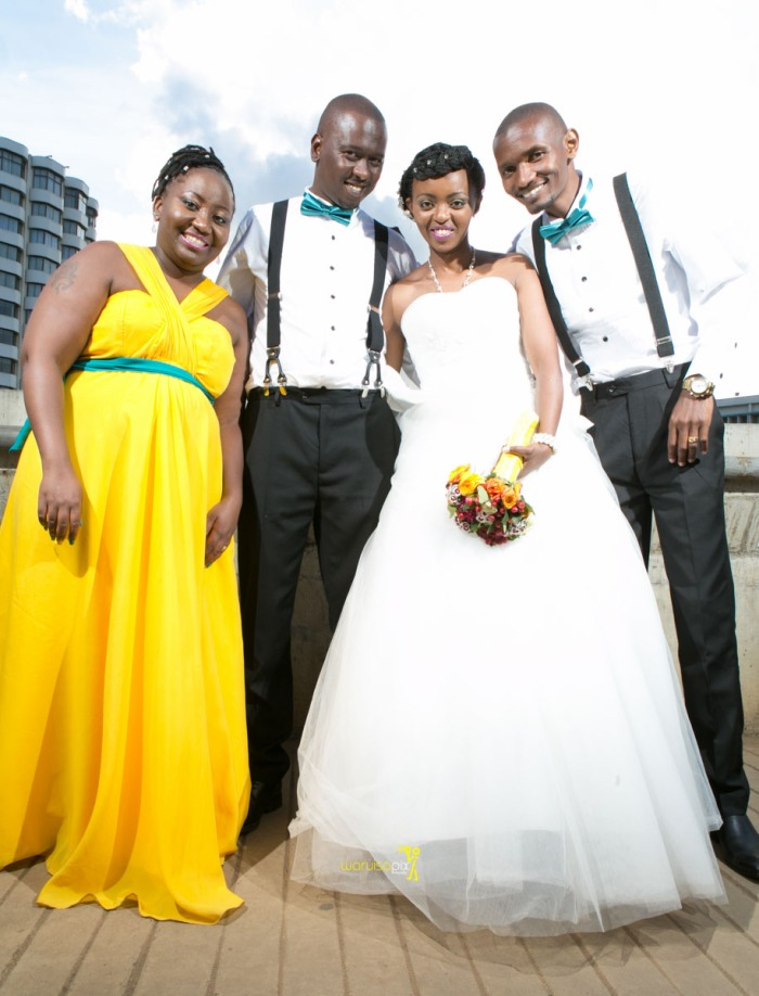 The great kenyan wedding random photoshhot with vintage car on nairobi streets by waruisapix ciiku weds Davie-160
