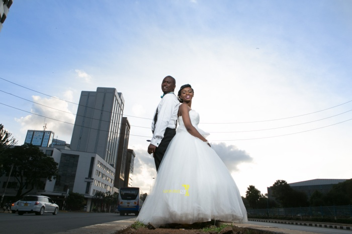 The great kenyan wedding random photoshhot with vintage car on nairobi streets by waruisapix ciiku weds Davie-161