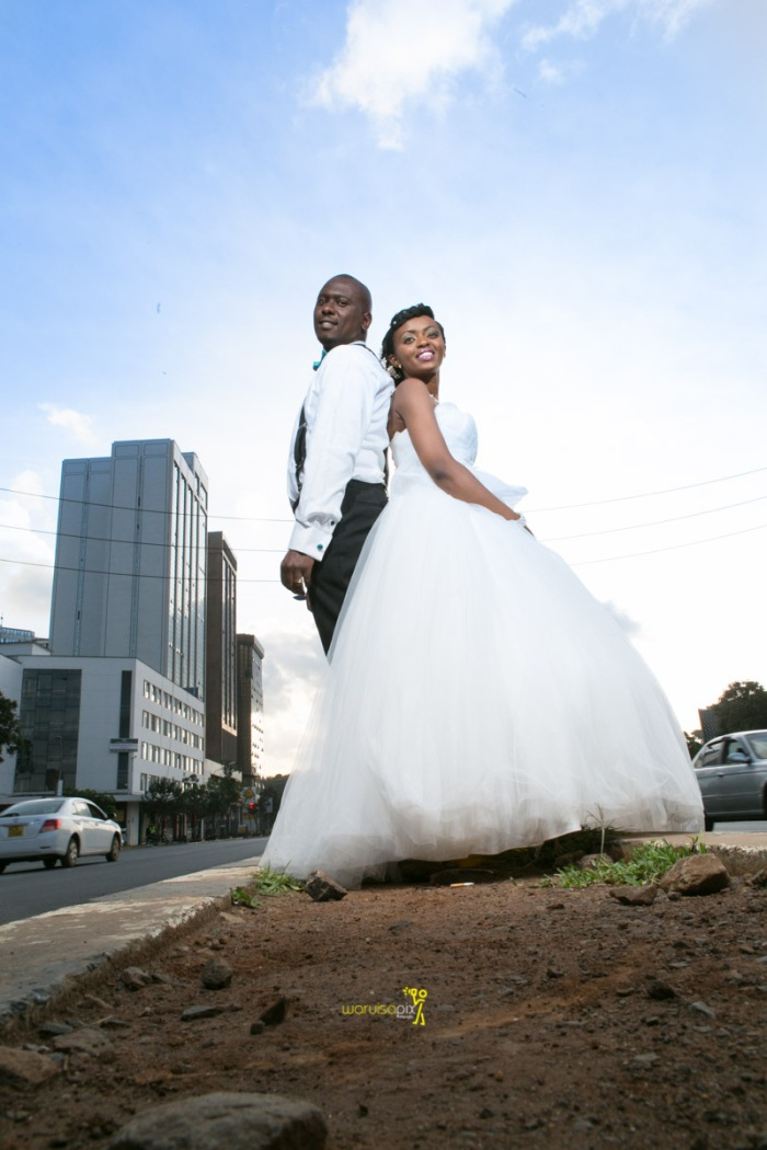 The great kenyan wedding random photoshhot with vintage car on nairobi streets by waruisapix ciiku weds Davie-162