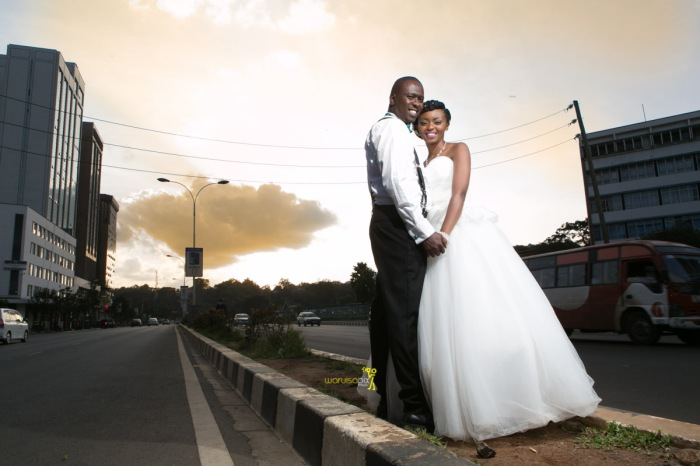 The great kenyan wedding random photoshhot with vintage car on nairobi streets by waruisapix ciiku weds Davie-163