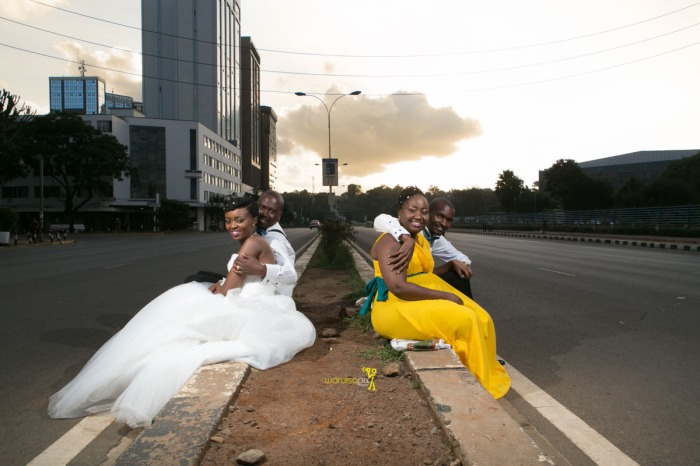 The great kenyan wedding random photoshhot with vintage car on nairobi streets by waruisapix ciiku weds Davie-164