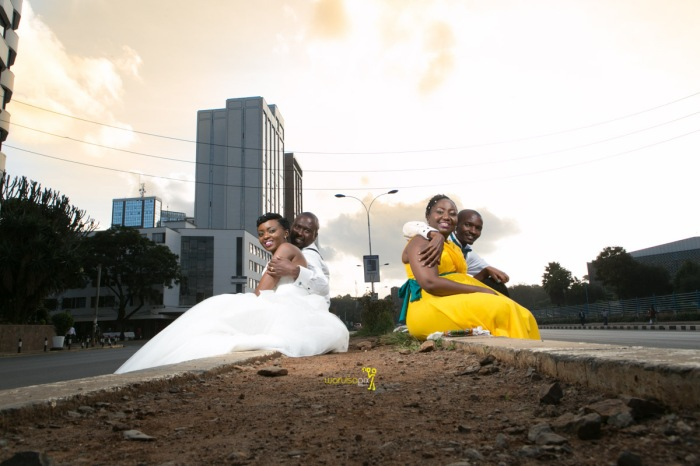 The great kenyan wedding random photoshhot with vintage car on nairobi streets by waruisapix ciiku weds Davie-165