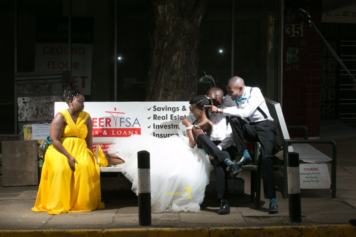 The great kenyan wedding random photoshhot with vintage car on nairobi streets by waruisapix ciiku weds Davie-169