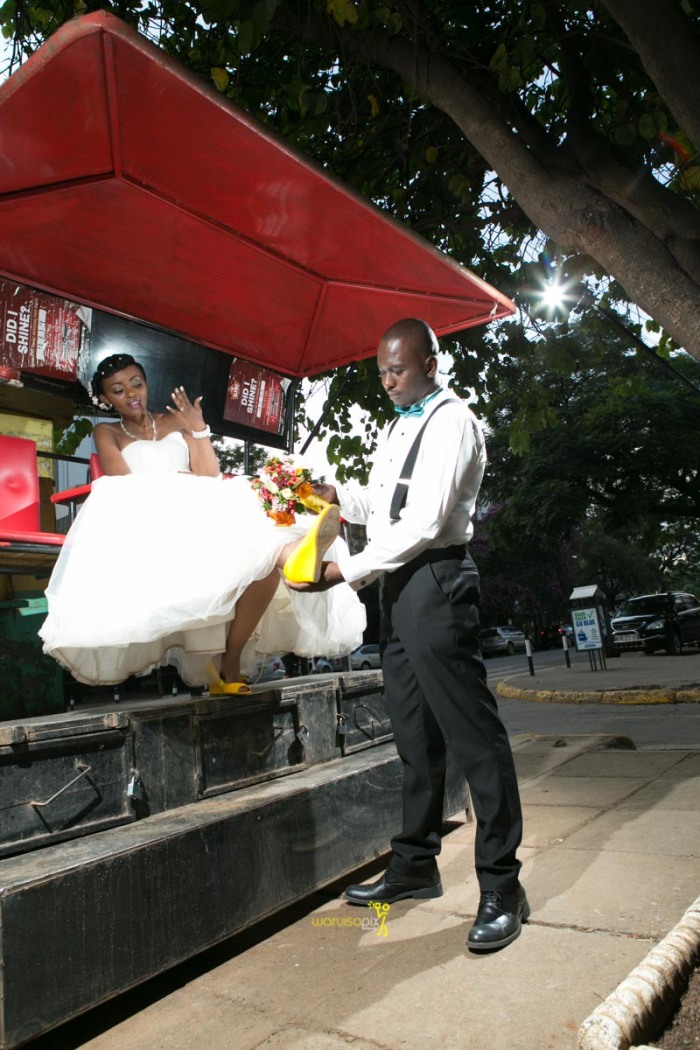 The great kenyan wedding random photoshhot with vintage car on nairobi streets by waruisapix ciiku weds Davie-171