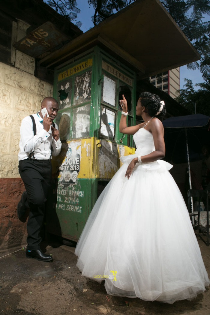 The great kenyan wedding random photoshhot with vintage car on nairobi streets by waruisapix ciiku weds Davie-173