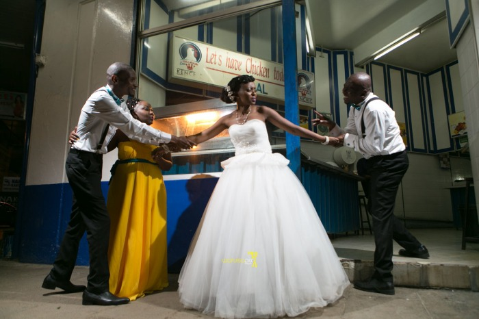 The great kenyan wedding random photoshhot with vintage car on nairobi streets by waruisapix ciiku weds Davie-191